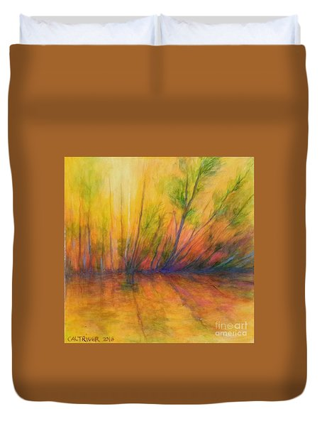 Afternoon Glow  Duvet Cover by Alison Caltrider