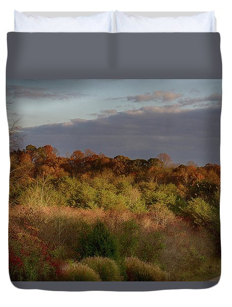 Afternoon Glow In Hocking Hills Duvet Cover by Haren Images- Kriss Haren