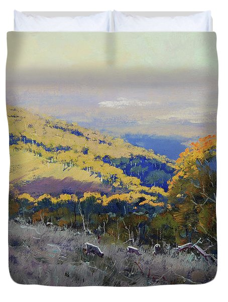 Afternoon Grazing Kanimbla Duvet Cover