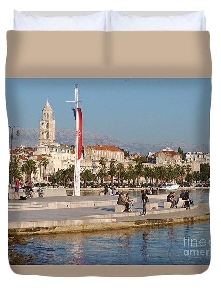 Afternoon In Split - Croatia  Duvet Cover