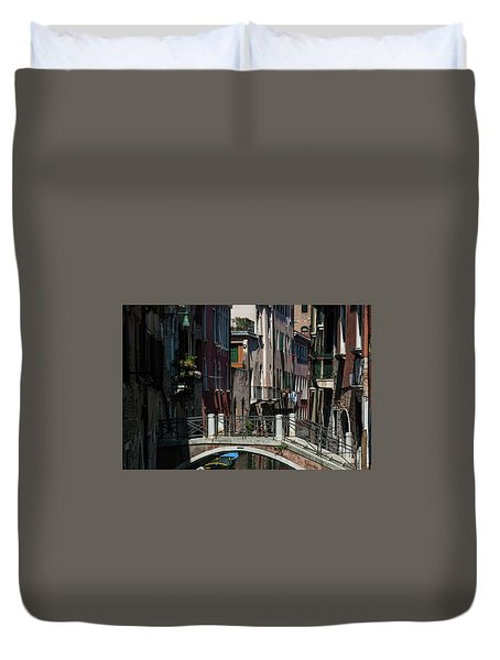 Duvet Cover featuring the photograph Afternoon In Venice by Alex Lapidus