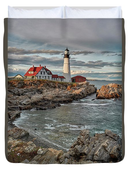Afternoon Light At Cape Neddick Duvet Cover