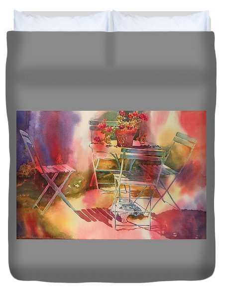 Afternoon Light Giverny, France Duvet Cover