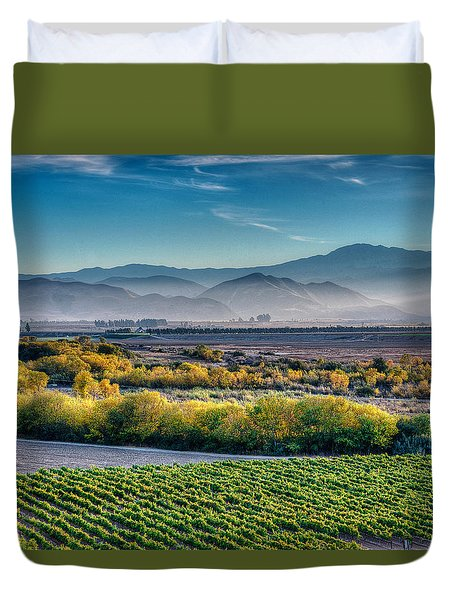 Afternoon Light In The Salinas Valley Duvet Cover