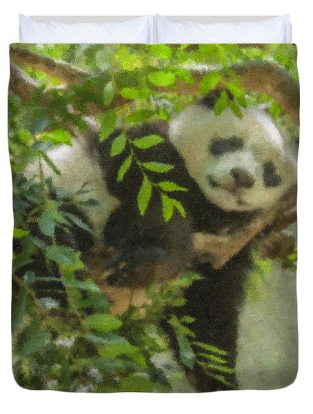 Afternoon Nap Baby Panda Duvet Cover