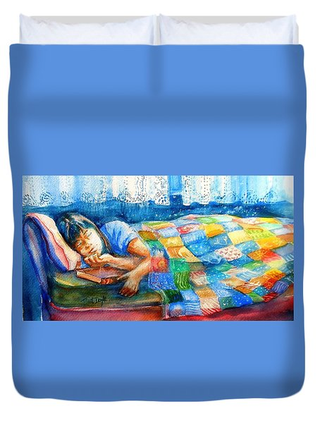 Afternoon Nap Duvet Cover by Trudi Doyle
