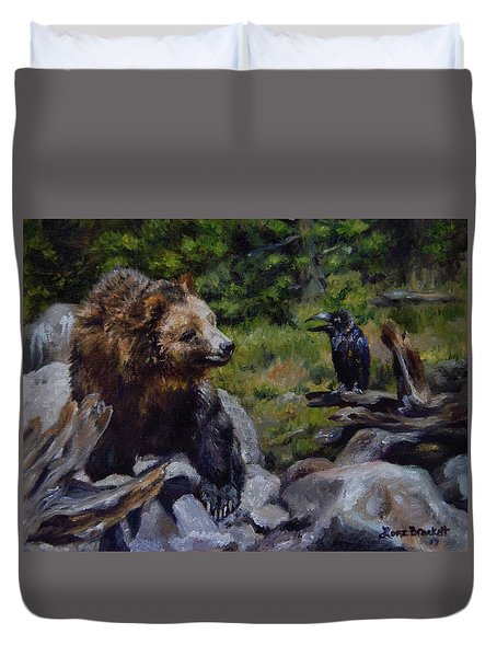 Afternoon Neigh-bear Duvet Cover