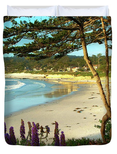 Afternoon On Carmel Beach Duvet Cover