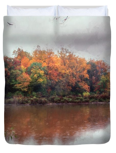 Duvet Cover featuring the photograph Afternoon Rain by John Rivera