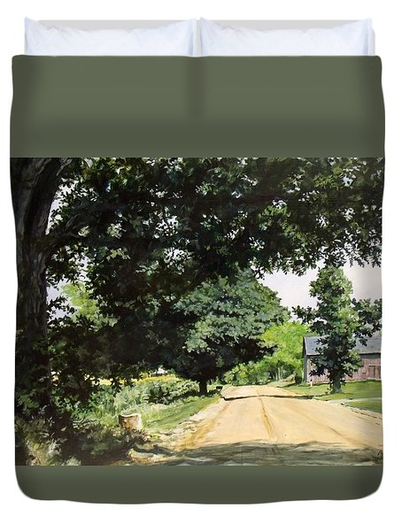 Afternoon Road Duvet Cover