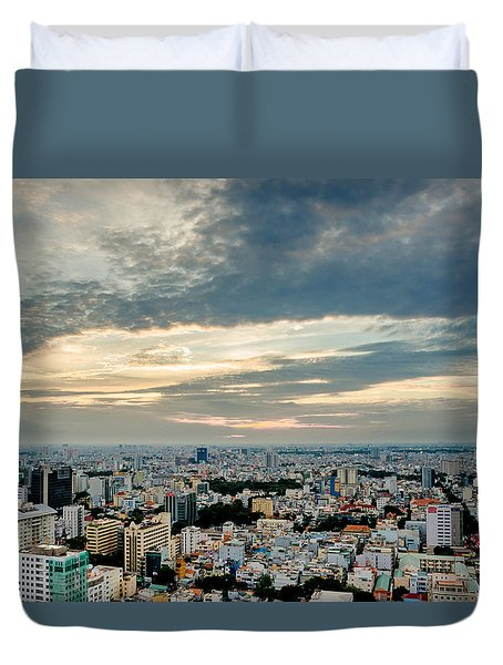 Afternoon Saigon Duvet Cover