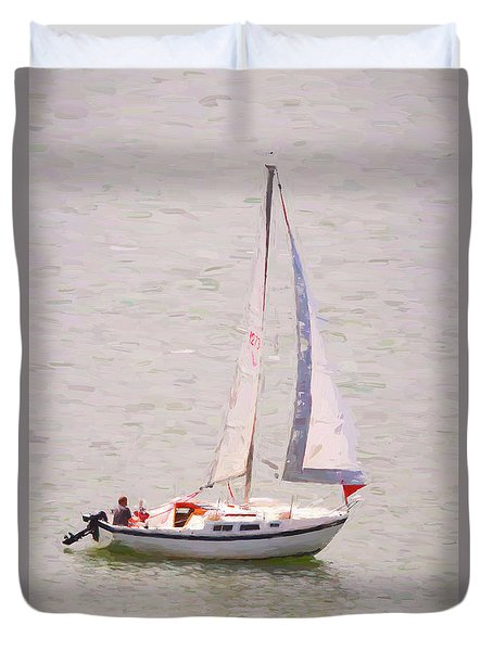Duvet Cover featuring the photograph Afternoon Sail by James BO Insogna