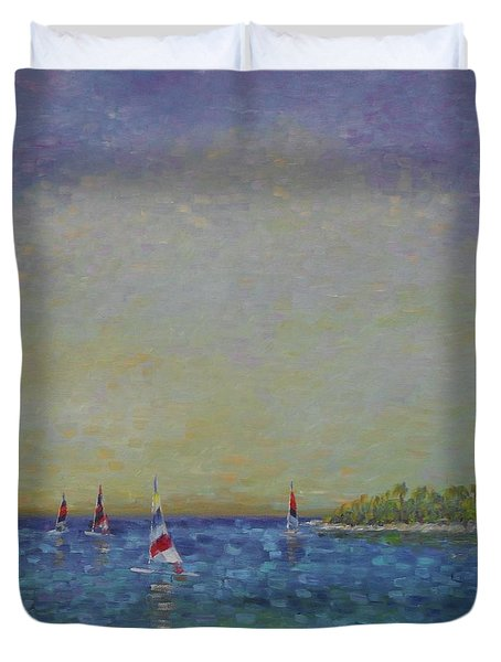 Afternoon Sailing Duvet Cover