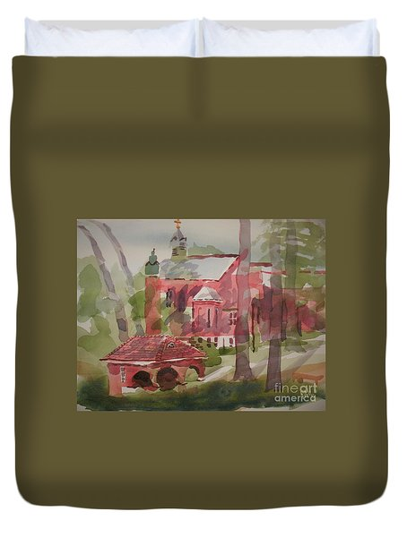 Duvet Cover featuring the painting Afternoon Shadows W403 by Kip DeVore