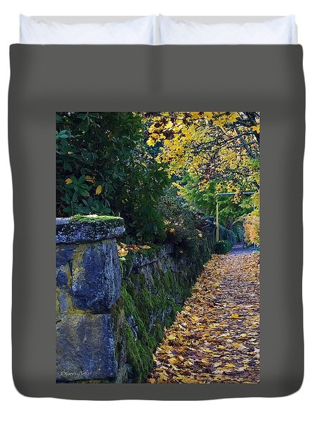Afternoon Sidewalk  Duvet Cover