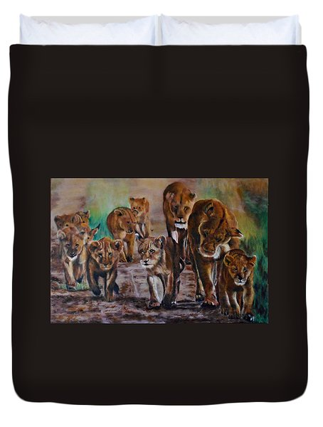 Afternoon Stroll Duvet Cover by Maris Sherwood