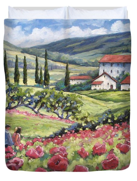 Afternoon Stroll Duvet Cover by Richard T Pranke
