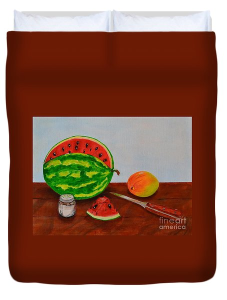 Afternoon Summer Treat Duvet Cover by Melvin Turner