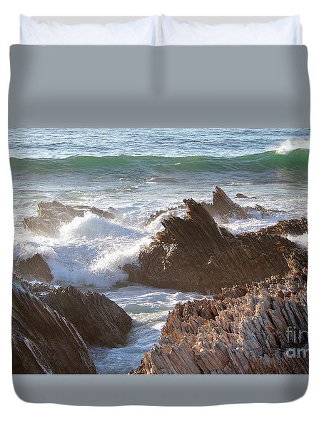 Afternoon Sun At Montana De Oro Duvet Cover