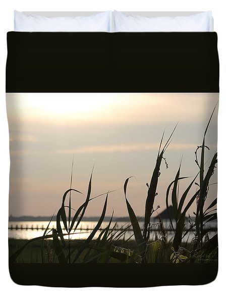 Duvet Cover featuring the photograph Afternoon Sun by Robert Banach