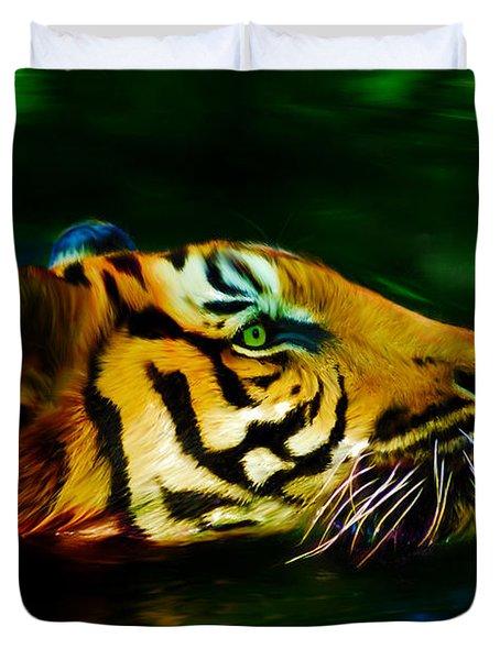 Afternoon Swim - Tiger Duvet Cover