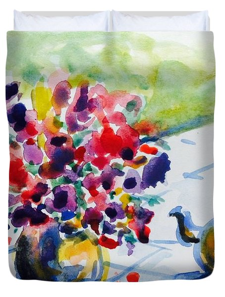 Afternoon Table Duvet Cover