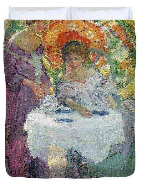 Afternoon Tea Duvet Cover by Richard Edward Miller