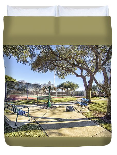 Afternoon Tennis Duvet Cover by Ricky Dean