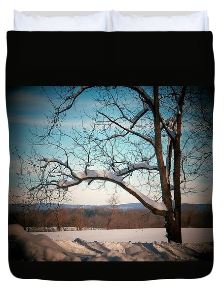 Afterr The Blizzard Duvet Cover by Joyce Kimble Smith