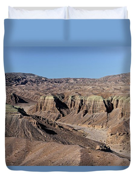Duvet Cover featuring the photograph Afton Canyon by Jim Thompson