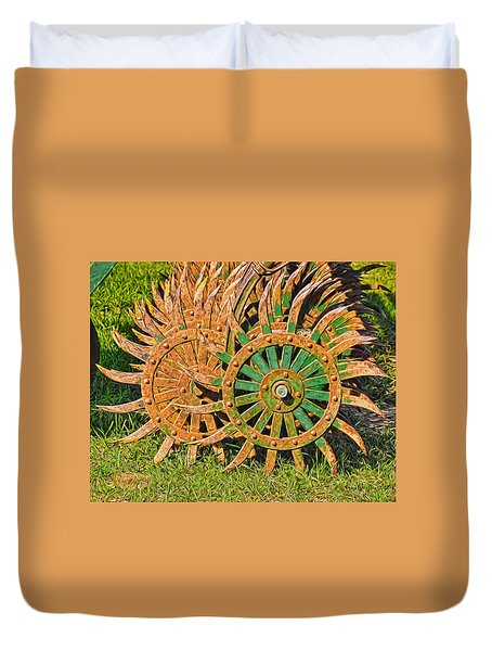 Ag Machinery Starburst Duvet Cover
