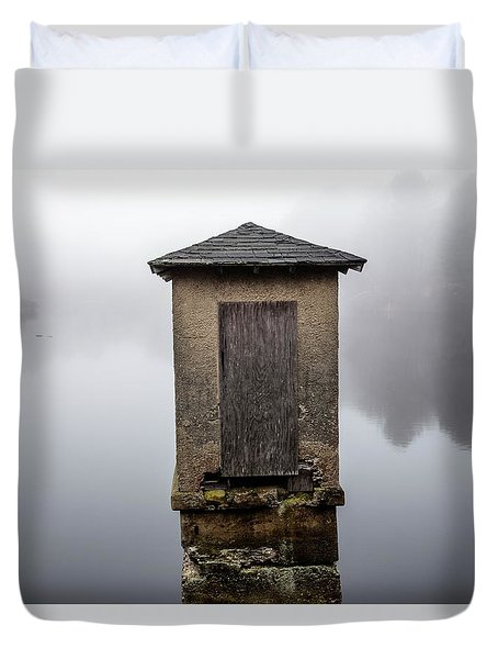 Duvet Cover featuring the photograph Against The Fog by Karol Livote