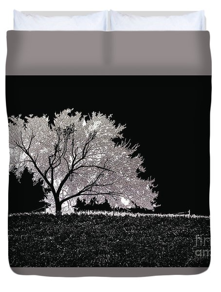 Against The Night Duvet Cover