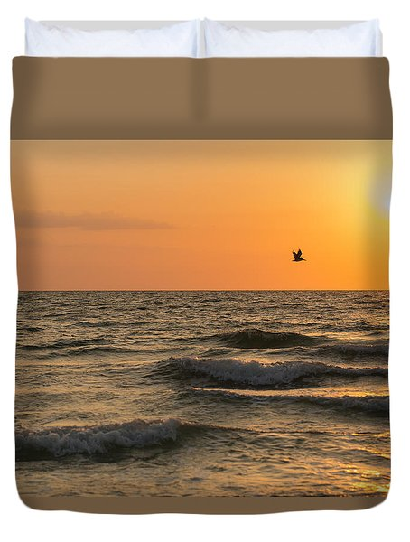 Against The Wind Duvet Cover