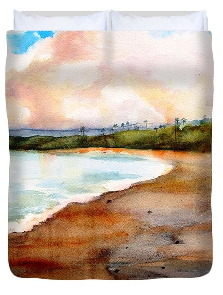 Aganoa Beach Savai'i Duvet Cover
