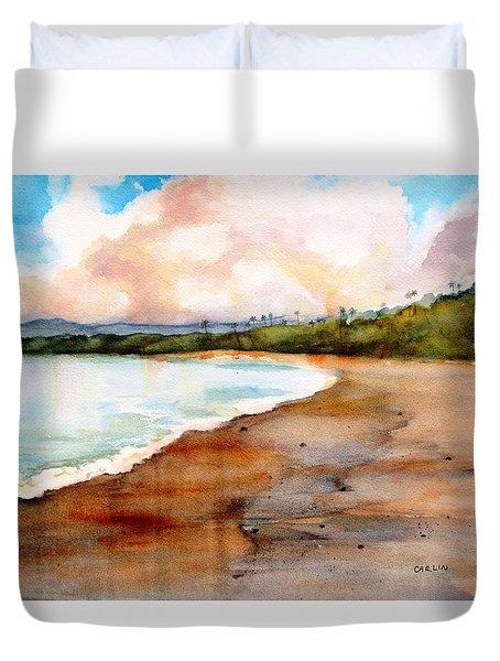 Aganoa Beach Savai'i Duvet Cover