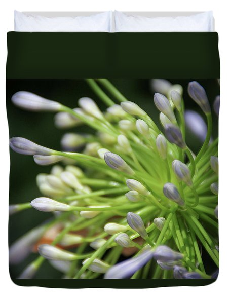 Duvet Cover featuring the photograph Agapanthus, The Spider Flower by Yoel Koskas
