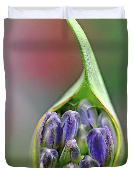 Agapanthus Bud Duvet Cover