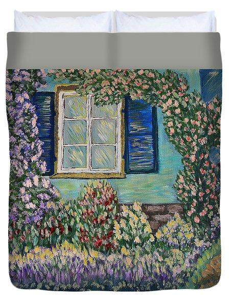 Agathas Garden Duvet Cover by Felicia Tica