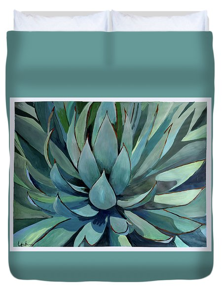 Agave Americana Duvet Cover by Geoff Greene