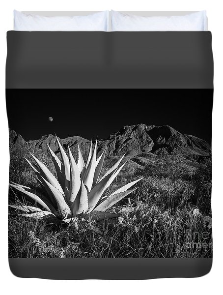Agave And Moonrise Duvet Cover