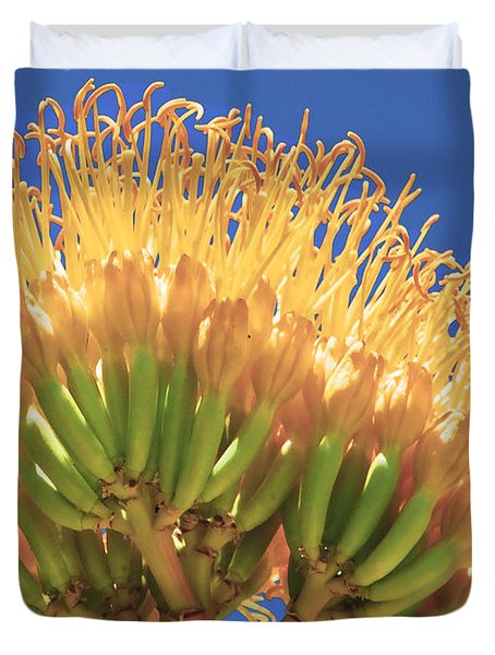 Agave Bloom Duvet Cover by Donna Greene