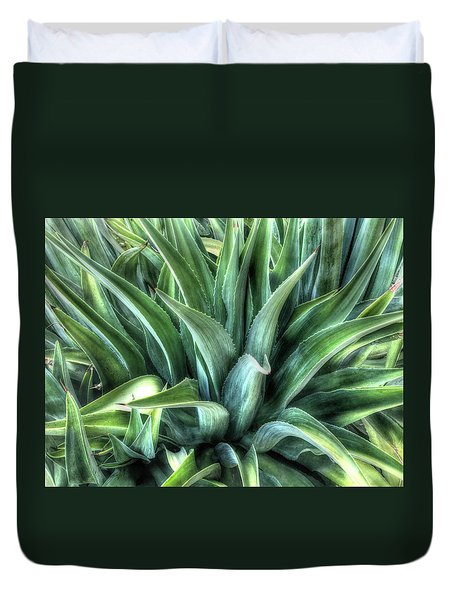 Duvet Cover featuring the photograph Agave by Lynn Geoffroy