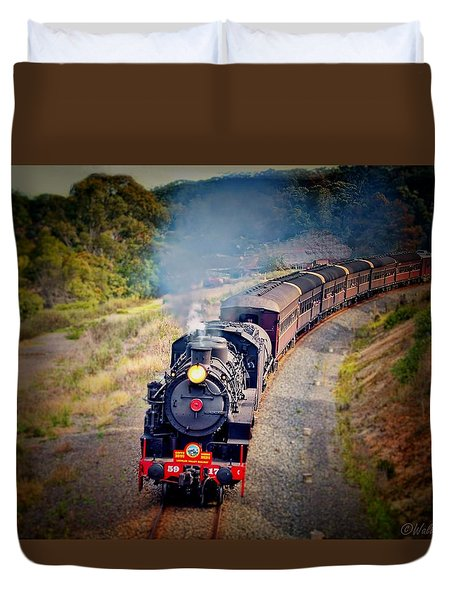 Age Of Steam Duvet Cover by Wallaroo Images