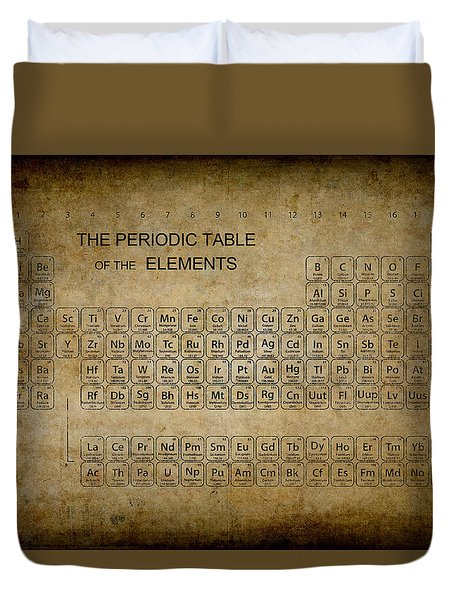 Aged To Perfection Periodic Table Duvet Cover
