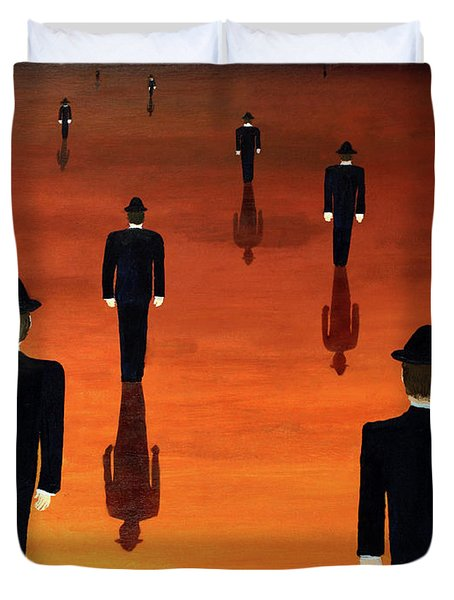 Agents Orange Duvet Cover