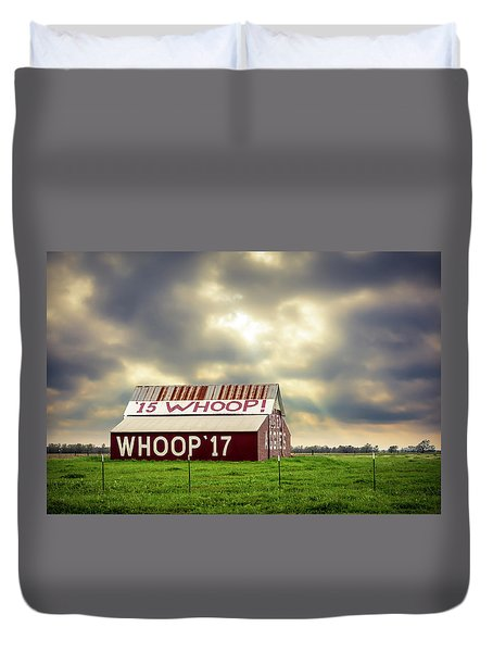 Duvet Cover featuring the photograph Aggie Barn by David Morefield