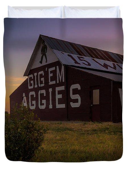 Aggie Sunset Duvet Cover