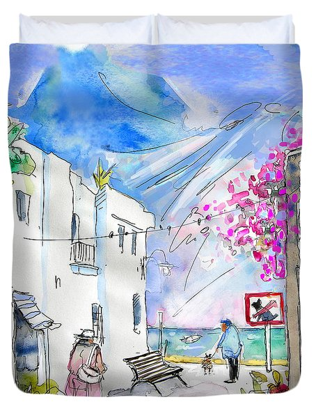 Agua Amarga 06 Duvet Cover by Miki De Goodaboom