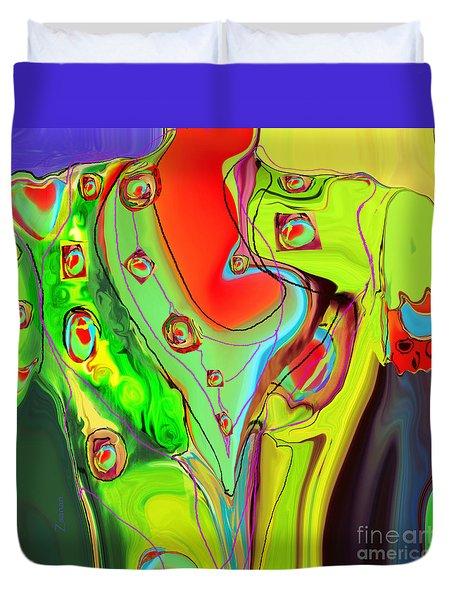 Ah Luvz  Olives Frocks Duvet Cover